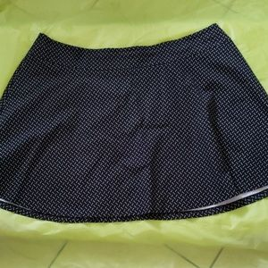 LANE BRYANT black n white A line mini skirt